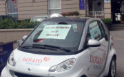 Notaro Homecare Ltd Smart car dressed up for Recruitment information days
