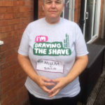 Carolyn after she braved the shave